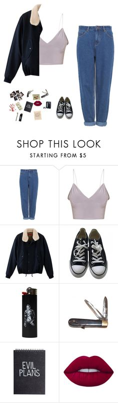 """""""Untitled #53"""" by valen666 ❤ liked on Polyvore featuring Pull&Bear, Converse, Sony, Smith & Wesson, Retrò, Nasty Gal and Lime Crime"""