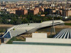 Zaha Hadid se Pabellón Puente (Pontpaviljoen) in Zaragoza, Spanje