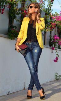 Look Blazer: Amarelo