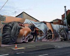 Melbourne, Australia: nuovo pezzo dell'artista australiano Smug One.