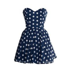 50s Style Polka Dot Prom Dress As Seen In MORE by styleiconscloset, £37.00