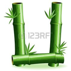 Bamboo Logo Brief Anmelden U photo