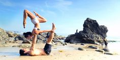 Briohny Smyth and Dice Iida-Klein Demonstrate AcroYoga - Partner Yoga Sequence