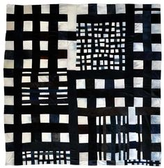 Eleanor McCain, from Art Quilts: New Works. (Alternate metaphor for personal connection to and disconnection from one's world/s)