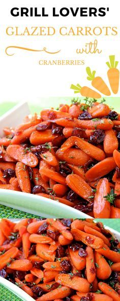 Grill Lovers' Amazing Glazed Carrots with Cranberries Recipe   #recipes #foodporn #foodie