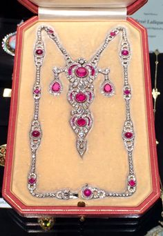 Lucie Bigelow Rosen's Ruby & Diamond Necklace, French, retailed by Dreicer & Co., circa 1910.