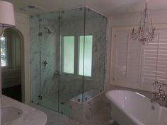 Call Binswanger Glass Kansas City @ to design and install custom shower enclosures to fit any space! Auto Glass, Glass Shower Doors, Glass Bathroom, Frameless Shower Enclosures, Custom Shower, Corner Bathtub, Kansas City, Bathrooms