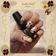 Gisele's Nails: FALL NAIL ART VINYL TREE AND LEAVES