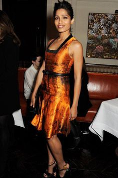 look of the day!  frida pinto in proenza schouler pre-fall 2013 where: launch dinner for proenza schouler's capsule collection for net-a-porter//london, restaurant 34