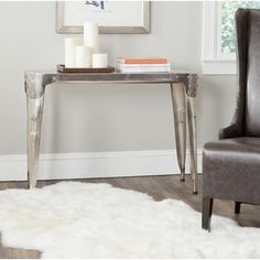 Shop for Safavieh Classic Dark Antiqued Silver Iron Console Table. Get free shipping at Overstock.com - Your Online Furniture Outlet Store! Get 5% in rewards with Club O!