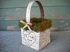Cute lil flower girl basket