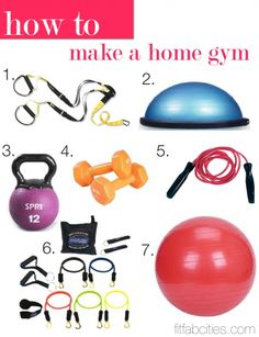 How To: Make a Home Gym… The 7 best fitness accessories! Personally, I don't think the kettle bell should be a part of your home gym, but most of the stuff in here is pretty key! My favourite is the bosu!