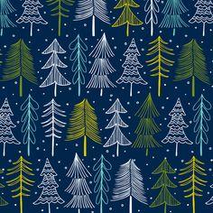Oh' Christmas Tree - Midnight fabric by heatherdutton on Spoonflower - custom fabric