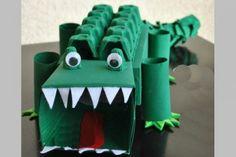 Een gave krokodil maken. Erg leuk is als #surprise voor #Sinterklaas!
