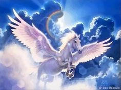 Unicorn Pegasus Flying