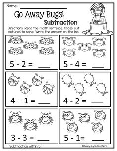 March Math & Literacy- No Prep Kindergarten Homework, Kindergarten Math Worksheets, Math Literacy, Math Activities, Subtraction Kindergarten, Numbers Preschool, Preschool Math, Preschool Education, Grammar For Kids