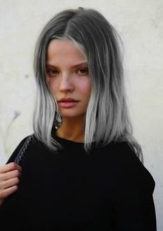 It was only a matter of time before Granny Hair joined forces with another beauty craze. Ombre, one of last year's breakout looks, was the ideal candidate. Ombre Hair, Purple Hair, Blonde Ombre, Pelo Color Gris, Coloured Hair, Grunge Hair, Hair Trends, Dyed Hair, Hair Inspiration