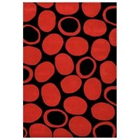 3d Shaggy 804 Abstract 2 Tone Large Swirl Red Area Rug 5