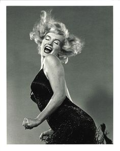 """AUTHENTIC DAZZLING MARILYN MONROE PHILIPPE HALSMAN """"JUMP"""" SERIES STAMPED PHOTO"""