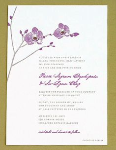 Yellow Orchids Wedding Invitations Pictures    invite possible
