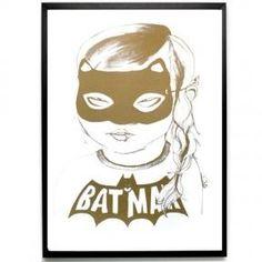 Batgirl print by Mini & Maximus, gold