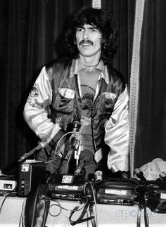 George doing a press conference in 1974