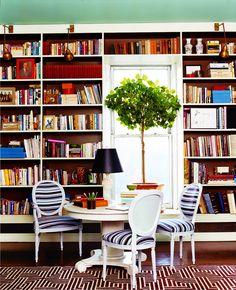Book display love (via Domino Mag)