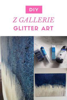 Diy Home Decor Art Canvases Tutorials Trendy Ideas Glitter Paint Diy, Glitter Wall Art, Glitter Canvas, Diy Canvas Art, Diy Wall Art, Diy Art, Canvas Ideas, Blank Canvas, Canvas Paintings