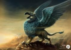 Griffin character from the famous Hungarian tale, Son of the White Horse.