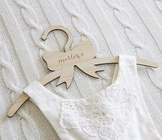 Image of Bow coat hangers (personalised and plain)