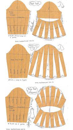 Dress Sewing Patterns, Sewing Patterns Free, Sewing Tutorials, Clothing Patterns, Pattern Drafting Tutorials, Sewing Collars, Sewing Sleeves, Camisa Formal, Sewing Basics