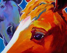 Horse Pet Portrait DawgArt Horse Art Southwestern by dawgpainter