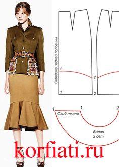 Как сшить юбку с воланом? Бесплатная выкройка и подробные инструкции помогут вам сшить юбку с воланом самостоятельно. Эта дизайнерская модель понравится...