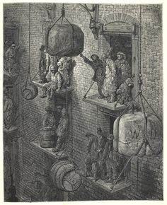 In French artist Gustave Doré began an extraordinary collaboration with the British journalist Blanchard Jerrold. Together, over four years, they produced a landmark account of the deprivation and squalor of mid-Victorian London Victorian London, Victorian History, Victorian Era, Gustave Dore, London Illustration, Illustration Art, Richest In The World, London City, East London