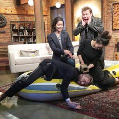 Fear the @amctalkingdead is back tonight! Last week @themichelleang wasted no time losing dead weight on the raft. @chrisjerichofozzy was understandably horrified but @lorenzohenrie was pretty okay with it. by hardwick