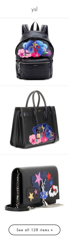 """""""ysl"""" by soniamoreira ❤ liked on Polyvore featuring bags, backpacks, black, backpack bags, genuine leather backpack, mini backpack, yves saint laurent bags, patchwork leather bag, handbags and tote bags"""