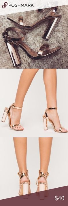 """Gorgeous Rose Gold Heels ✨ Gorgeous Rose Gold Heels ✨ SIZE 8 💕 4.75"""" approx. heel height ✨ Worn only for about an Hour , In Original Packaging , in love but unfortunately my knee is still to weak. Super comfortable heel , & looks great with any outfit ! Shoes"""