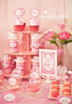 Yummy treats at a Pink Party Birthday Party! See more party ideas at CatchMyParty.com! #partyideas #pink