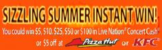 Sizzling Summer Instant Win Game Over 10,000 Prizes on http://hunt4freebies.com/sweepstakes