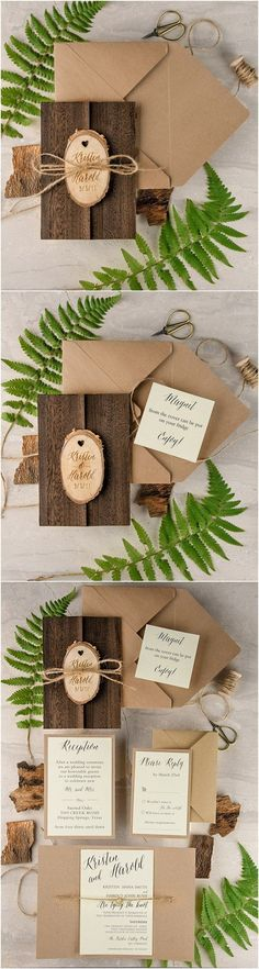 Rustic country wedding invitations #rusticweddingideas #weddinginvitationwording #countryweddinginvitations