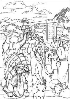 mozes en de slang kleurplaten bijbel