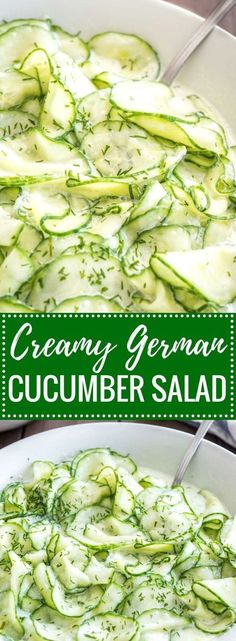 German Cucumber Salad is a refreshing summer salad made with simple ingredients that are a staple in most kitchens! This easy recipe is easy to make, budget-friendly, and perfect for a potluck, family dinner, or summer cookout. (use a sugar substitute) Easy Salads, Summer Salads, Easy Meals, Inexpensive Meals, Cheap Dinners, Salads For Braai, Budget Dinners, German Salads, German Cucumber Salad