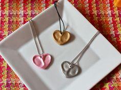 DIY Thumbprint Charm Necklace Keepsake | CCS #valentine #heart #craft