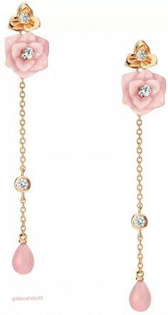 Piaget Rose Drop Earrings | Fashion Jewelry |  Modern | Rosamaria G Frangini