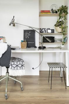 The toughest laminate floors on the market for high traffic and crowded environments. Browse our extensive collection of high pressure laminate and discover its benefits. Berry Alloc, Home Office, Office Workspace, Minimal Home, Laminate Flooring, White Walls, Declutter, Interior Inspiration, Cosy