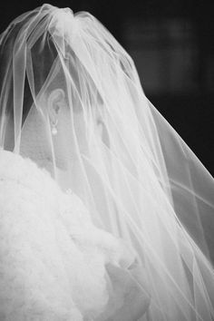 Classic veil covering the face