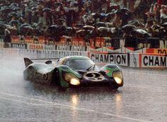"1971 Le Mans, the ""Hippie"" 917 LH in the rain."
