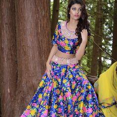 Adore this floral lehenga by Wellgroomed Designs Inc Makeup & photographer : Girlfriendz Studio 7