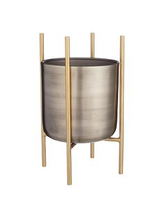 Buy Design Project by John Lewis Indoor Planter, Metallic, Medium from our Pots & Planters range at John Lewis & Partners. Conservatory Furniture, Garden Furniture, Indoor Planters, Planter Pots, Herb Pots, Potted Plants, Minimalist Design, John Lewis, Design Projects