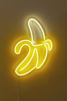 Urban Outfitters Banana LED Neon Sign by Urban Outfitters Yellow Aesthetic Pastel, Neon Aesthetic, Aesthetic Collage, Aesthetic Women, Aesthetic Clothes, Bedroom Wall Collage, Photo Wall Collage, Picture Wall, Neon Led